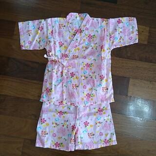 ニシマツヤ(西松屋)の甚平 花柄 女の子 (甚平/浴衣)