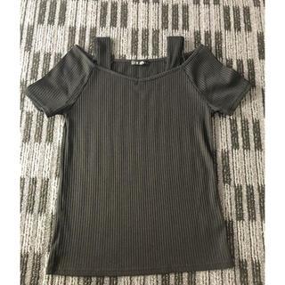 イング(INGNI)のINGNI  ブラック Tシャツ カットソー トップス(Tシャツ(半袖/袖なし))