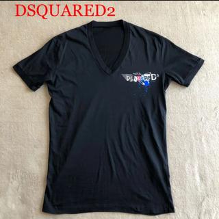 ディースクエアード(DSQUARED2)のDSQUARED2 ディースクエアード  Tシャツ 加工ペイント ブラック M(Tシャツ/カットソー(半袖/袖なし))