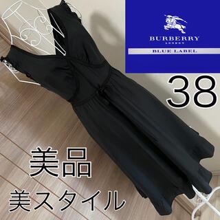BURBERRY BLUE LABEL - 美品☆ BURBERRY BLUE LABEL☆美スタイル☆ワンピース☆38☆黒