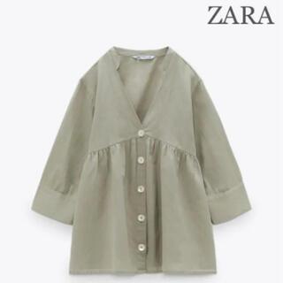 ZARA - 【新品・未使用】ZARA リネンブレンド ブラウス