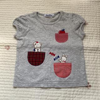 familiar - 美品 ファミリア リアちゃんTシャツ 90