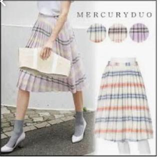 マーキュリーデュオ(MERCURYDUO)のMERCURYDUO マルチボーダースカート(ひざ丈スカート)