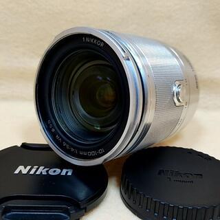 Nikon - 高倍率ズームレンズ Nikon 1 NIKKOR 10-100mm シルバー
