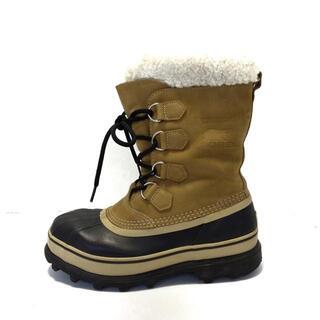 ソレル(SOREL)のソレル ブーツ 25 メンズ - ベージュ×黒(ブーツ)