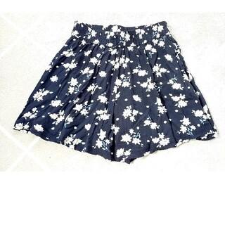 花柄キュロットスカート
