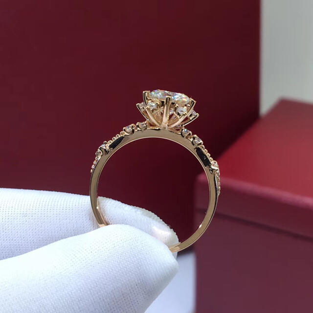 モアッサナイト リング K18WG レディースのアクセサリー(リング(指輪))の商品写真