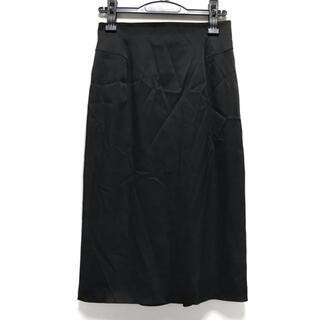 エポカ(EPOCA)のエポカ ロングスカート サイズ38 M - 黒(ロングスカート)