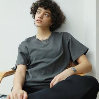 シールームリン(SeaRoomlynn)のC/2FACE MEDIUM Tシャツ ウォッシュブラック(Tシャツ(半袖/袖なし))