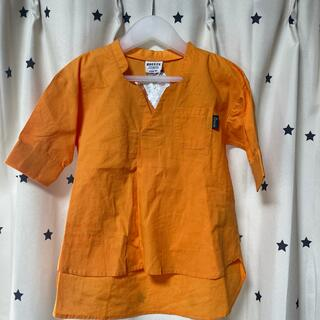 ブリーズ(BREEZE)のオーバーサイズシャツ オレンジ 90  Breeze ブリーズ(Tシャツ/カットソー)