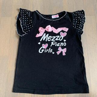 mezzo piano - メゾピアノTシャツ130