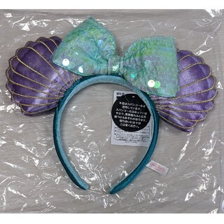 Disney - アリエルカチューシャ ディズニー カチューシャ シェル リボン 貝殻 マーメイド
