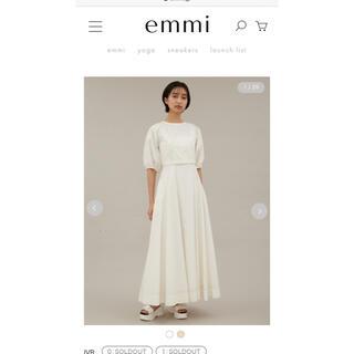 エミアトリエ(emmi atelier)のemmi アウトステッチワンピース(ロングワンピース/マキシワンピース)