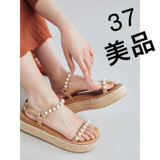 TSURU by Mariko Oikawa - 美品ツルバイマリコオイカワ パールサンダル 37 TSURU 23.5 24