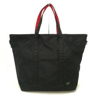 ポーター(PORTER)のポーター ハンドバッグ - 黒×レッド(ハンドバッグ)