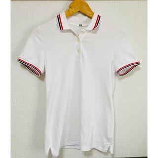ユニクロ(UNIQLO)のUNIQLO ユニクロ ポロシャツ レディース ホワイト 白(ポロシャツ)