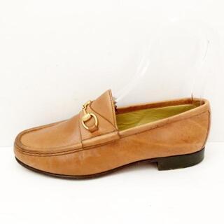 グッチ(Gucci)のグッチ 36c レディース - ブラウン レザー(ローファー/革靴)