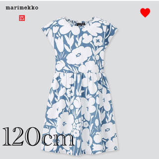 マリメッコ(marimekko)の 【新品】マリメッコ ユニクロ キッズ デニムワンピース 120cm(ワンピース)