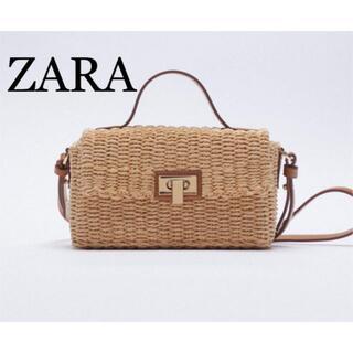 ZARA - ZARA ザラ 新品 ウーブン ボックス クロスボディバッグ