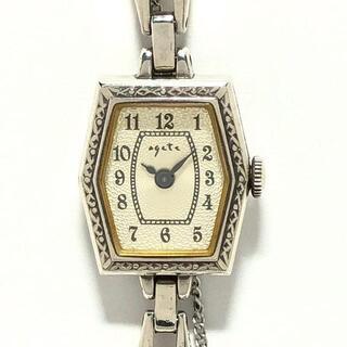 アガット(agete)のアガット 腕時計 - レディース シルバー(腕時計)