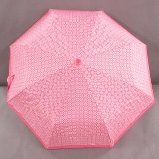 コーチ(COACH)のコーチ 折りたたみ傘 ピンク ポリエステル(傘)