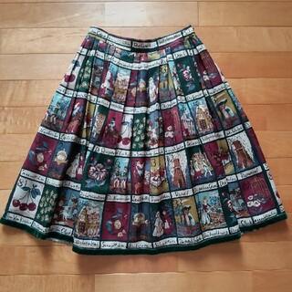 ジェーンマープル(JaneMarple)のジェーンマープル Fairly tale cards スカート 童話 ねこ(ひざ丈スカート)