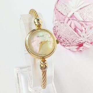 Gucci - ⭐️綺麗 グッチ シェル バングル 美風防 レディース 腕時計 着物 ギリ美品