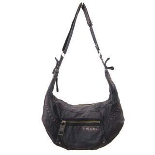 ディーゼル(DIESEL)のディーゼル DIESEL ショルダーバッグ デニム ワンショルダー ロゴ 黒 鞄(ショルダーバッグ)