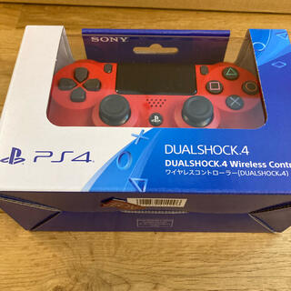 PlayStation4 - PS4 ワイヤレスコントローラー 純正 デュアルショック4 新品 プレステ 赤
