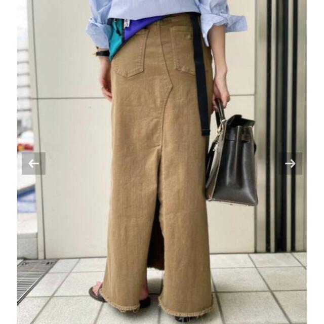 L'Appartement DEUXIEME CLASSE(アパルトモンドゥーズィエムクラス)のアパルトモンGOOD GRIEF!A Line Fringe Hem Skirt レディースのスカート(ロングスカート)の商品写真