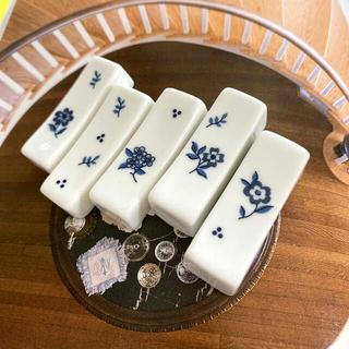 ハンドメイド お箸置き ①フラワー 花柄