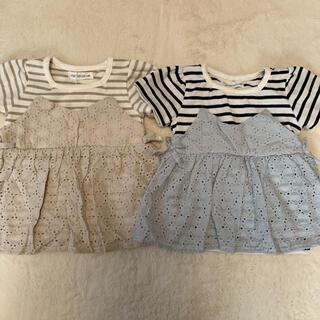 プティマイン(petit main)のママラク チュニック Tシャツ セット 90(Tシャツ/カットソー)