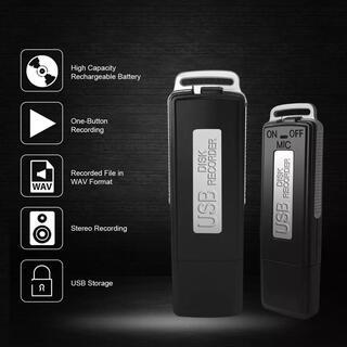 高音質 ワンタッチ ボイスレコーダー ICレコーダー USB 16GB 録音機