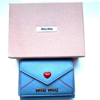 miumiu - 財布 miumiu ミュウミュウ 三つ折り ミニウォレット