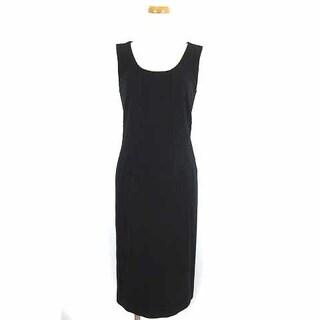 アルマーニ コレツィオーニ(ARMANI COLLEZIONI)のアルマーニ コレツィオーニ ドレス ワンピース ノースリーブ ひざ丈 黒 40(ひざ丈ワンピース)