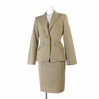 コムサイズム(COMME CA ISM)のコムサイズム スーツ セットアップ ジャケット スカート 膝丈 ベージュ S(スーツ)