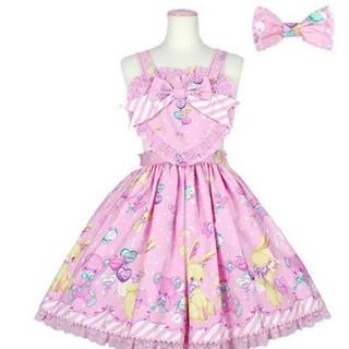 Angelic Pretty - Toy Fantasyトイファンタジー エプロン風スカート ピンク