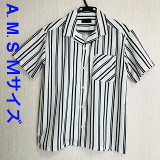 エイエスエム(A.S.M ATELIER SAB MEN)のA.M.S  ボーダーシャツ 48サイズ Mサイズ(シャツ)