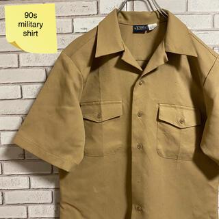 90s 古着 ヴィンテージ ミリタリーシャツ USA製 開襟シャツ(シャツ)