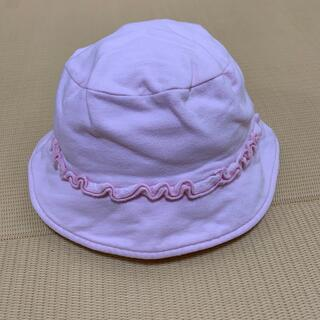 ベビーギャップ(babyGAP)のbabyGAP 帽子 1歳半〜2歳 ピンク あごひも付き(帽子)