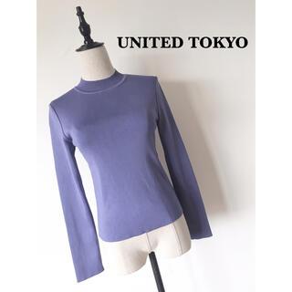 UNITED TOKYOパレスクルーロングスリーブニット