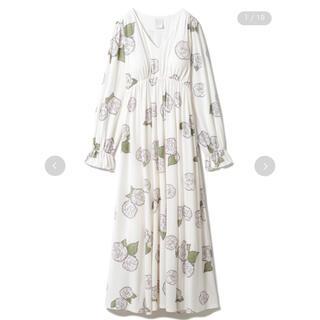 gelato pique - ジェラート・ピケ【ミュシャと椿姫】椿モチーフロングスリーブドレス