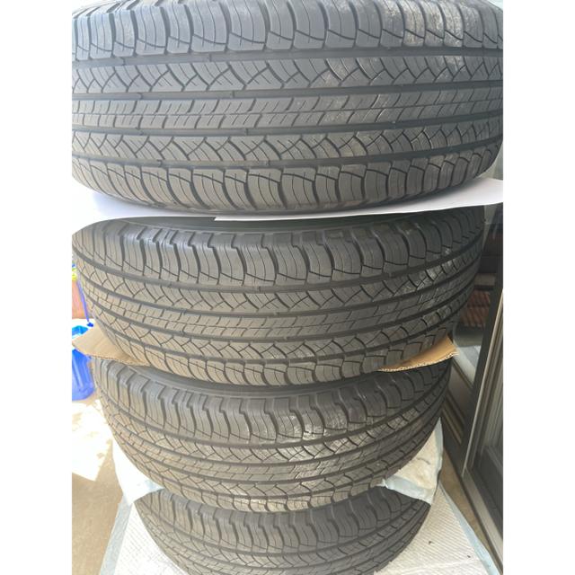 トヨタ(トヨタ)の【新車外し】プラド ブラックエディション タイヤ、ホイール4本セット 自動車/バイクの自動車(タイヤ・ホイールセット)の商品写真