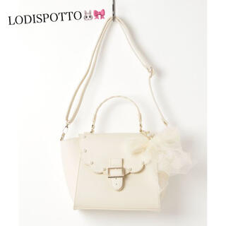 ロディスポット(LODISPOTTO)の美品♡ロディスポット ホワイトショルダーバッグ♡(ショルダーバッグ)