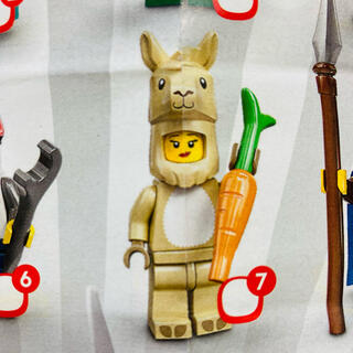レゴ(Lego)の新品未使用 LEGO ミニフィグ 71027 ラマの女の子(積み木/ブロック)