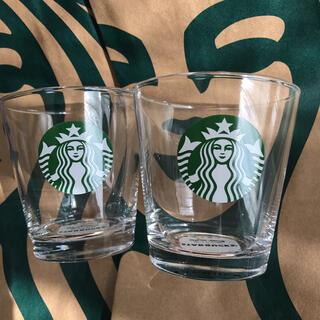 Starbucks Coffee - スターバックス ロゴグラス クリア 2個セット スタバ タンブラー