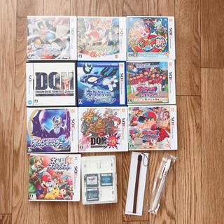 3DSソフト13点+ケースペンセットまとめ売り福袋ポケモン妖怪ウォッチドラクエ(家庭用ゲームソフト)