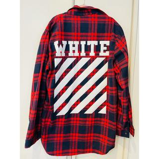 チェック 赤 レッド シャツ ネルシャツ ロゴ 韓国 ブロックチェック 秋冬