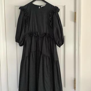 ドゥロワー(Drawer)のセシリーバンセン CECLIE  BAHNSEN ブラック ドレス新品未使用タグ(ロングワンピース/マキシワンピース)