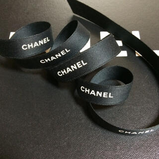 CHANEL - Sale!1.5cm幅 CHANEL ラッピング リボン ブラック 10m